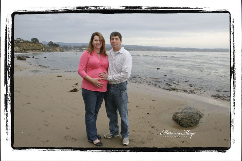 maternity session on santa cruz beach