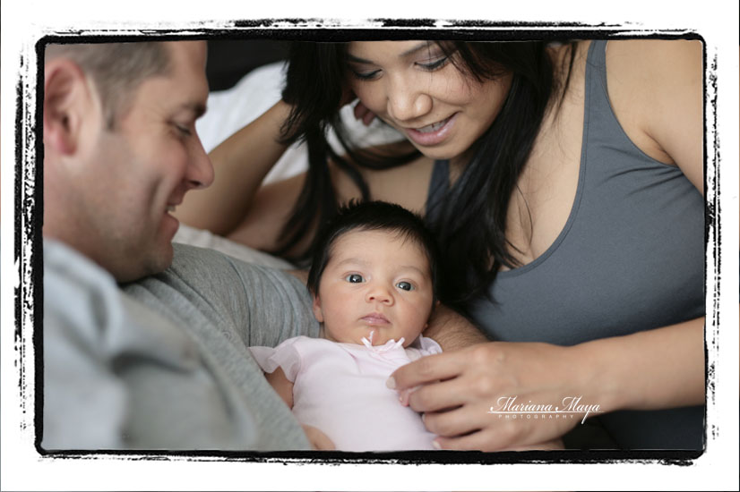 with their littole baby girl