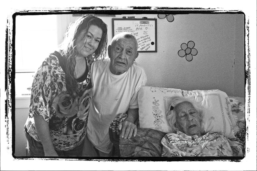 grandparents with a granddaughter portrait