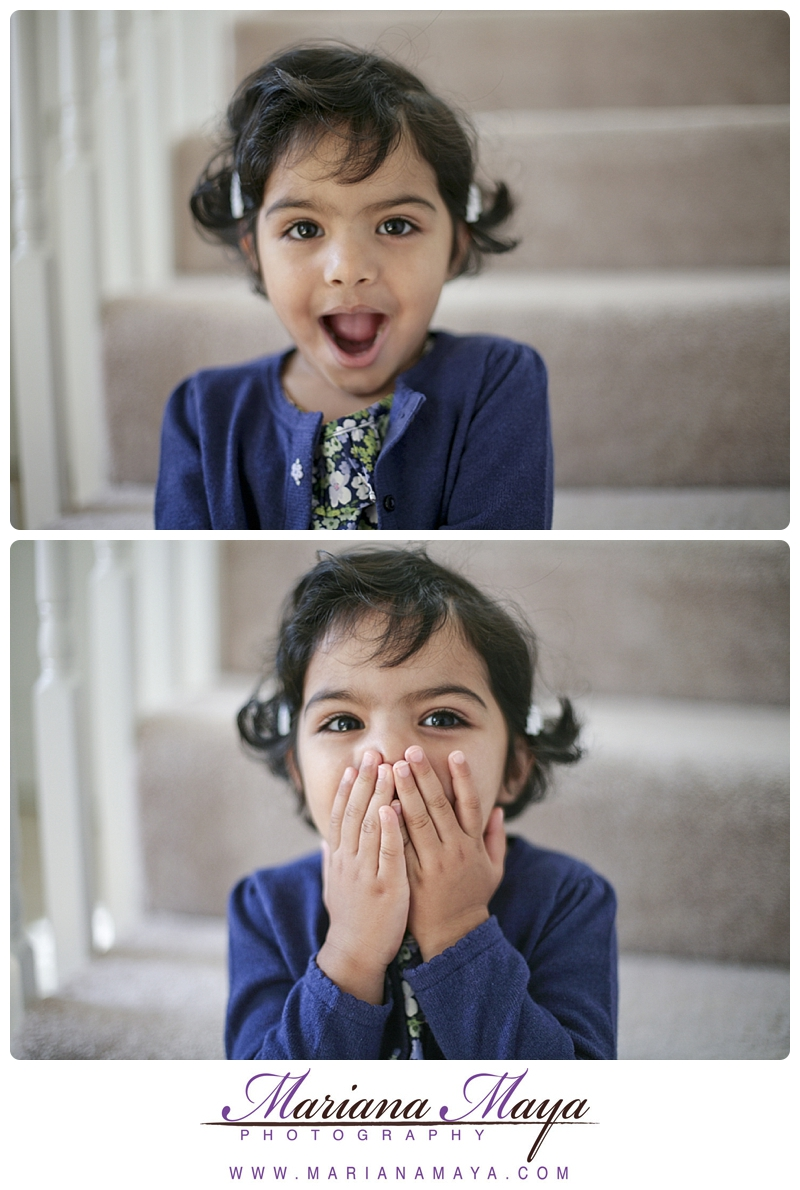 funny faces from a little girl