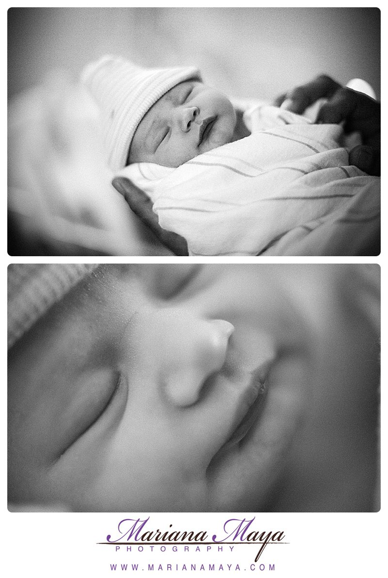 black and white portraits for a newborn