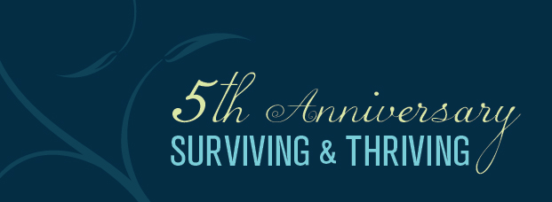 Surviving And thriving logo 5th anniversary