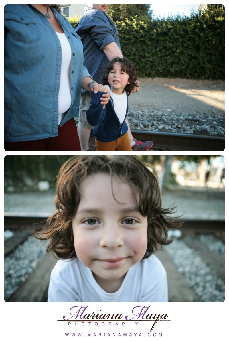 family portraits with a close up of a boy