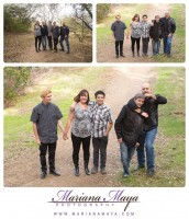 family portraits in the park