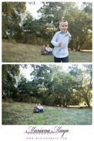 running during family portraits